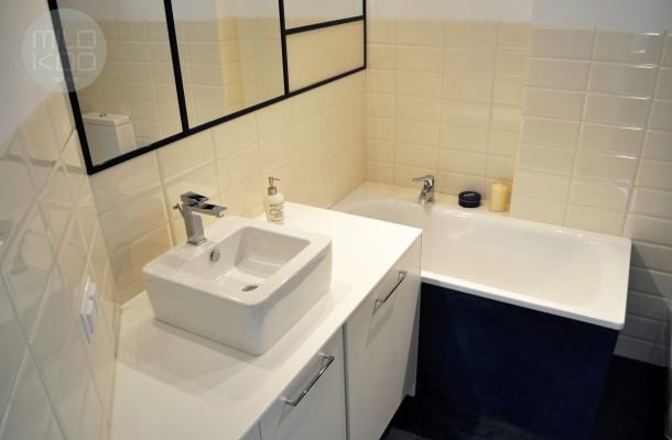 Barwiony beton w łazience